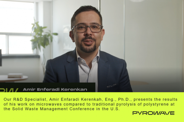 Our R&D Specialist, Amir Enferadi Kerenkan, Eng., Ph. D., at the Solid Waste Management Conference