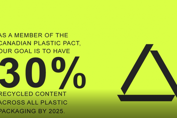 Let's aim at a minimum of 30% recycled content in plastic packaging
