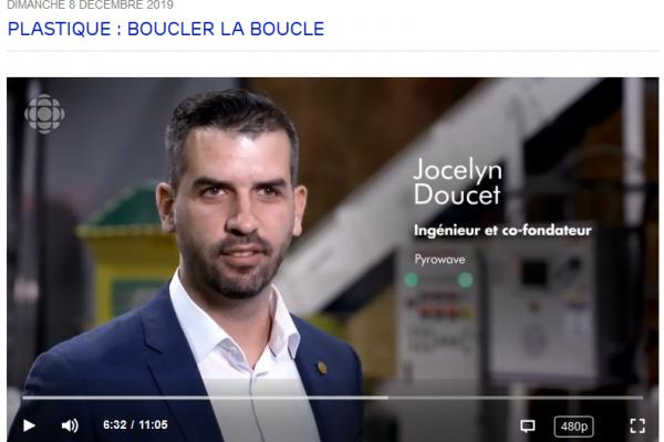 Pyrowave in the CBC TV show Découverte