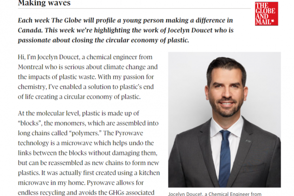 The Globe and Mail: Jocelyn Doucet, a CEO who is 'making waves'