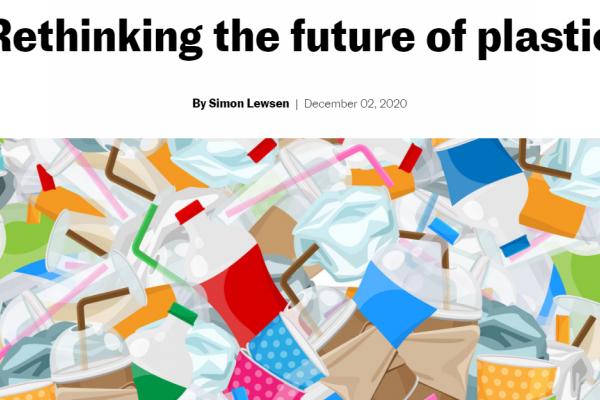 Repenser l'avenir des plastiques - une entrevue avec Mars Discovery District Magazine