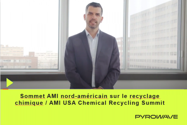 Pyrowave's CEO Jocelyn Doucet for the upcoming AMI Chemical Recycling USA Summit, March 2021