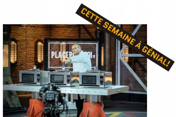 Marc-Antoine Charron, analyste des procédés chimiques chez Pyrowave, à l'émission Génial!