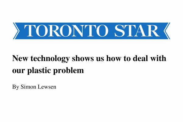 Jocelyn Doucet, our CEO and Co-founder, Interviewed About the Plastics Waste Issue and Pyrowave Technology