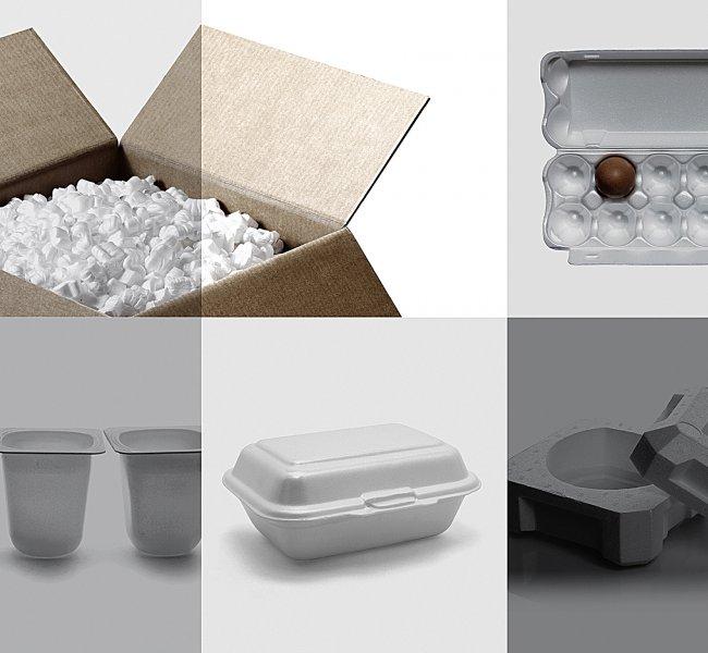 Le styrène recyclé dans l'emballage durable